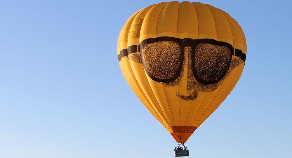 Un globo aerostático