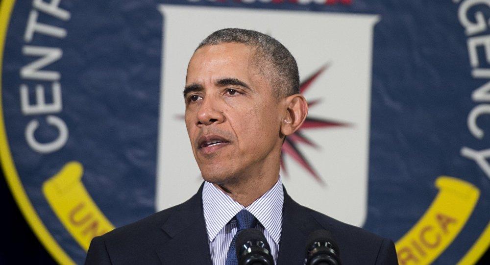 Barack Obama, presidente de EEUU, en la sede de la CIA
