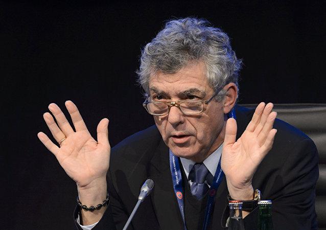 Ángel María Villar, el presidente de la Federación Española de Fútbol