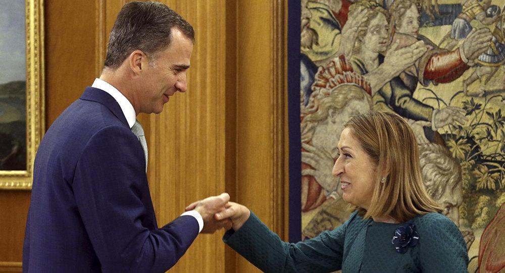 El monarca Felipe VI recibe a la nueva presidenta del Congreso de los Diputados, la conservadora Ana Pastor