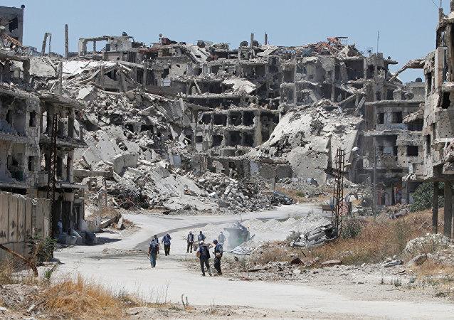 Consecuencias de los bombardeos en Siria