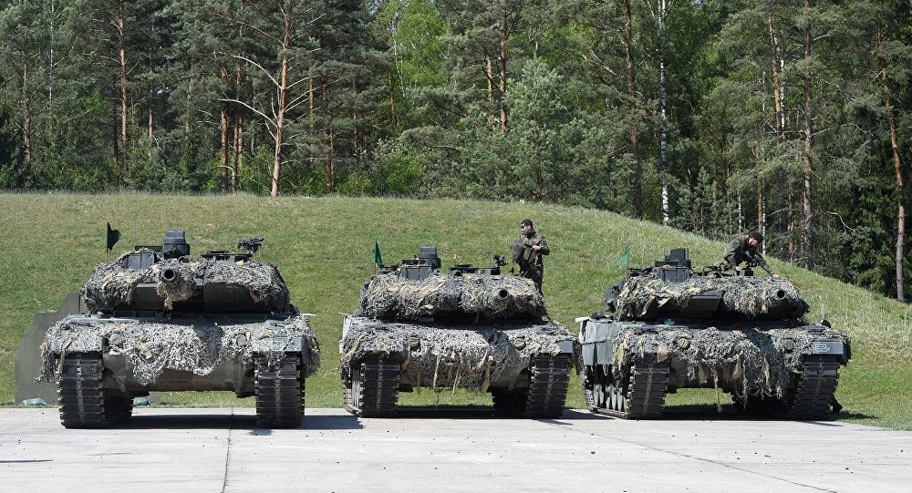 Los tanques alemanes 'Leopard'