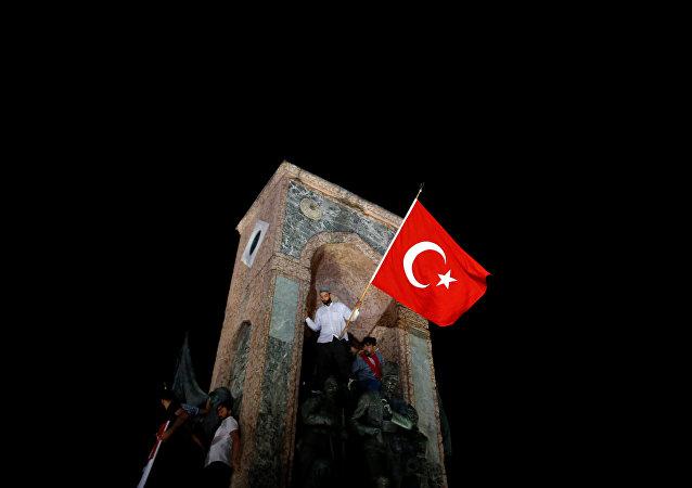 Los partidarios del Gobierno turco