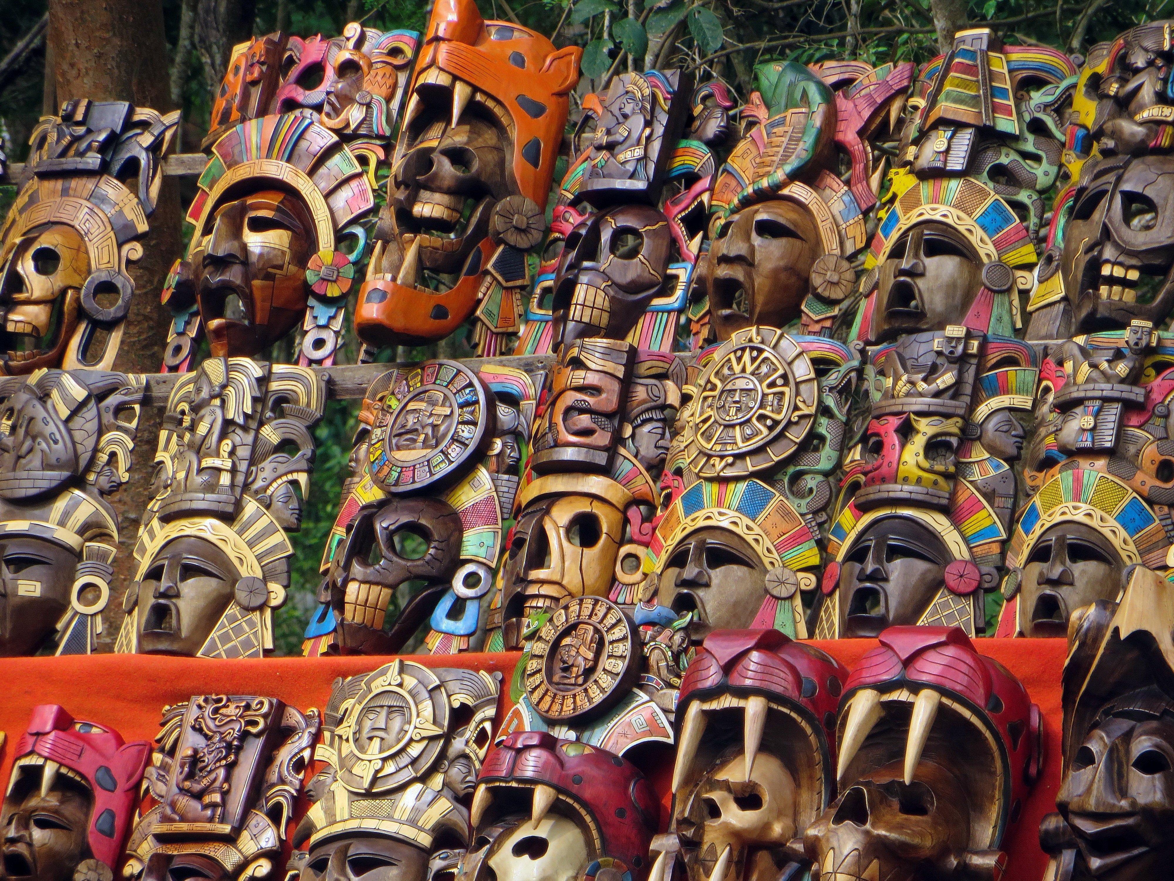 Las máscaras turísticas, México