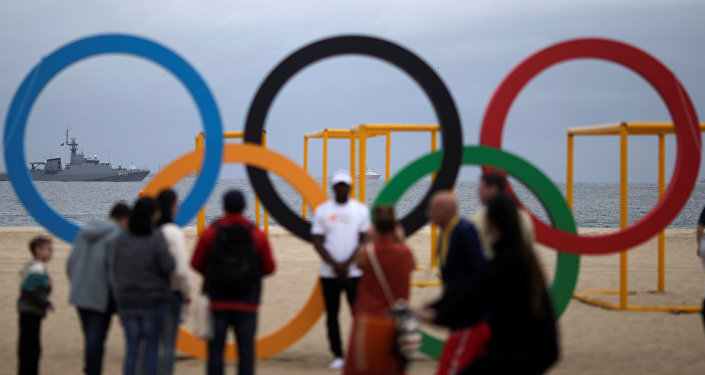 Los aros olímpicos en Río de Janeiro