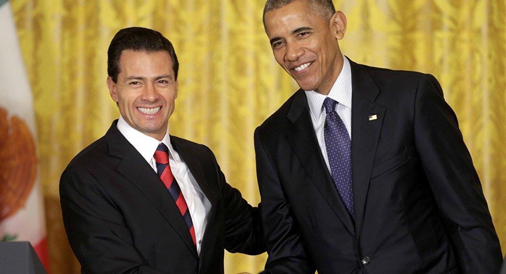 El presidente de México, Enrique Peña, y el  presidente de EEUU, Barack Obama (Archivo)