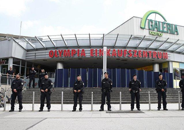 Los policias en Múnich tras el tiroteo