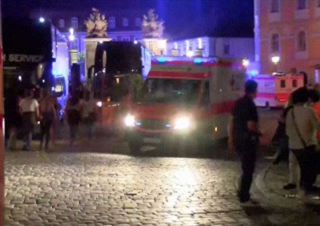 Ataque terrorista en Ansbach: investigaciones en el lugar de la explosión