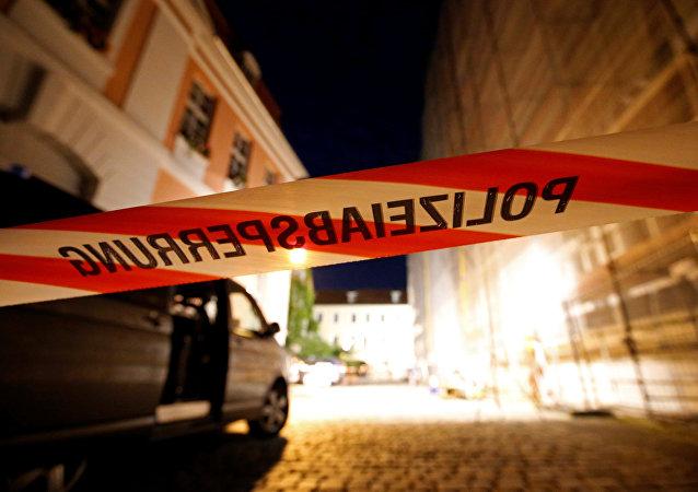 Lugar del atentado en Ansbach