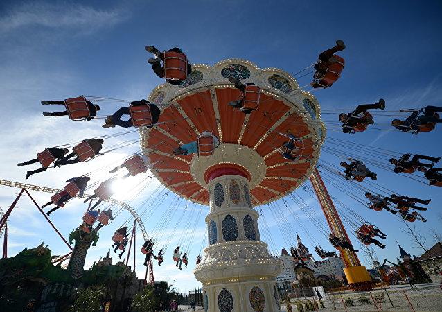 Sillas voladoras en el Parque Sochi