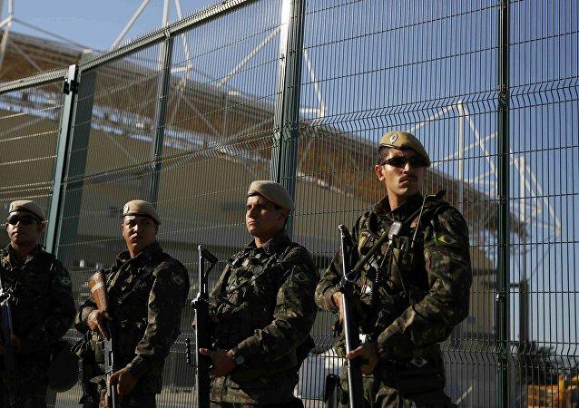 Los policías brasileños