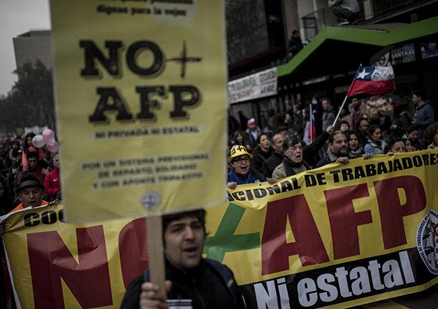 Protestas en Chile contra el sistema de jubilaciones