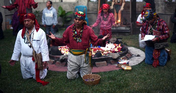 La celebración de Año Nuevo por los mayas