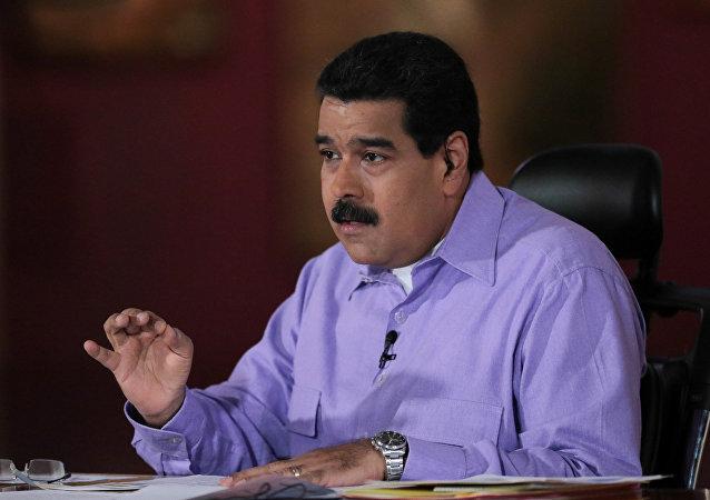 Nicolás Maduro, presidente de Venezuela, durante su programa semanal En Contacto con Maduro