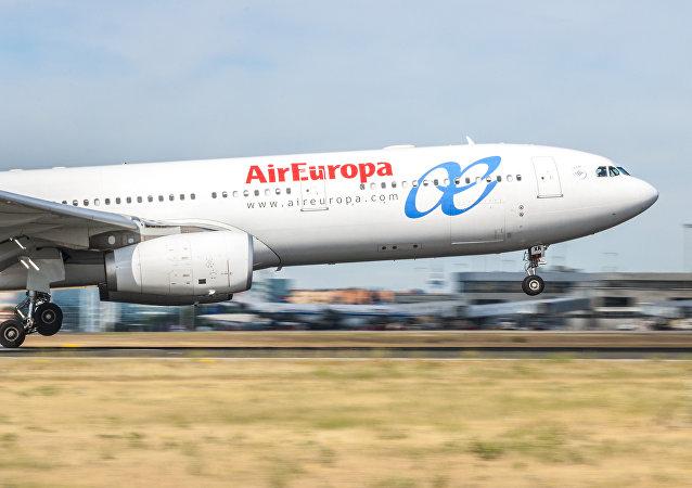 El avión de AirEuropa