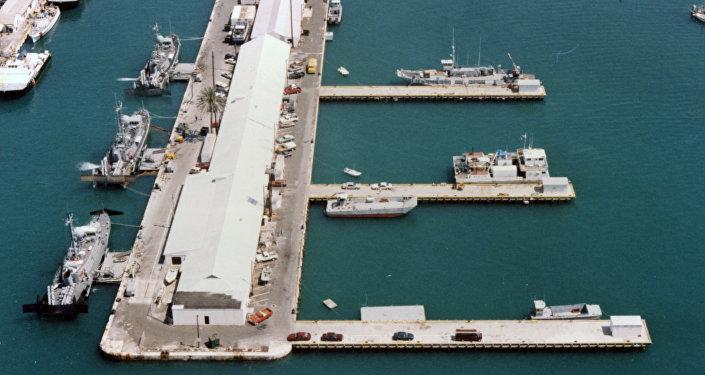 Una estación naval de EEUU en Key West