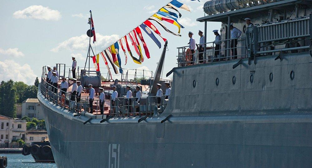 El arribo de la fragata Admiral Grigoróvich a Sebastopol