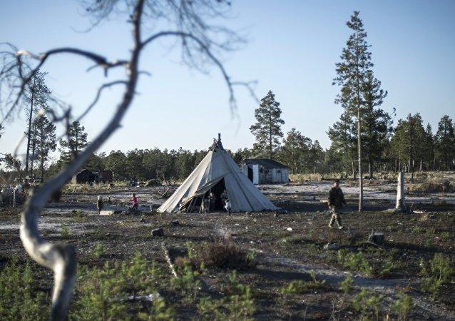 Habitación de los nómadas de Siberia (Archivo)