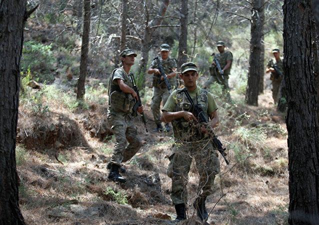 Los militares turcos (archivo)