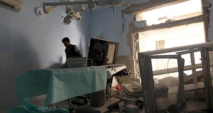 Un hospital destruido en Latakia, Siria