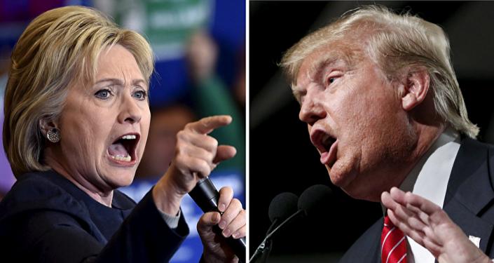 Candidata del Partido Democrata, Hillary Clinton y candidato del Partido Republicano, Donald Trump