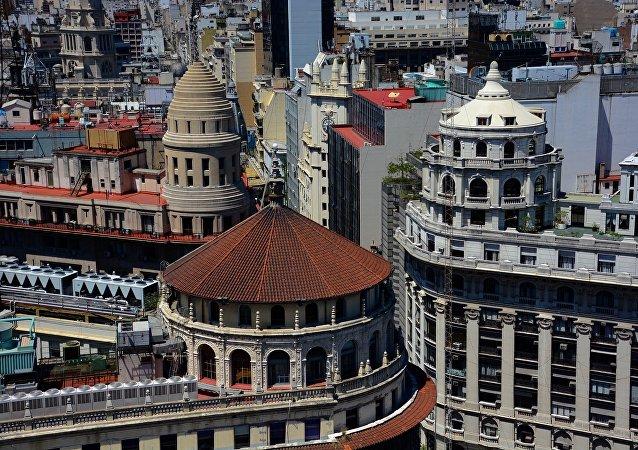 El centro finaciero de Buenos Aires, Argentina (archivo)