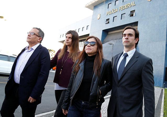 João Santana, publicista del Partido de los Trabajadores (PT) João Santana, junto a su mujer, puestos en libertad