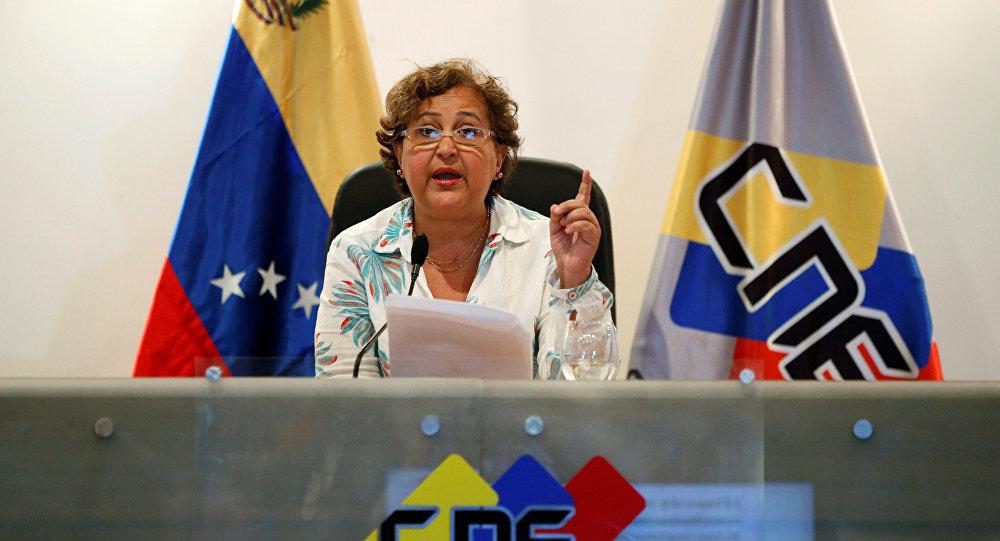 Tibisay Lucena, presidente del Consejo Nacional Electoral de Venezuela (archivo)