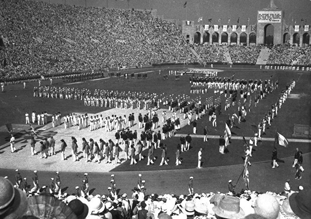 Ceremonia de apertura de los Juegos Olímpicos de 1932
