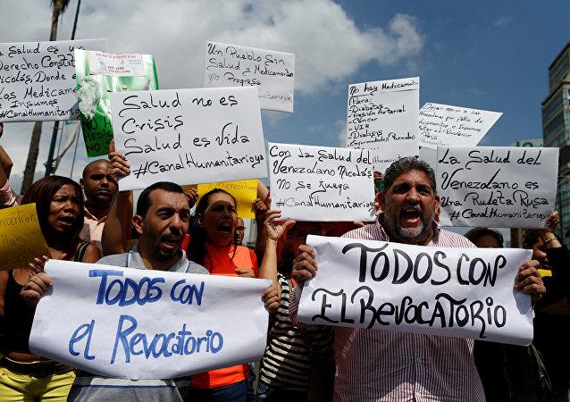 Partidiarios de la oposición venezolana