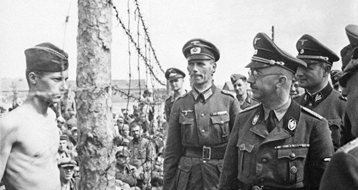 Himmler inspecciona un campo de concentración, 1941