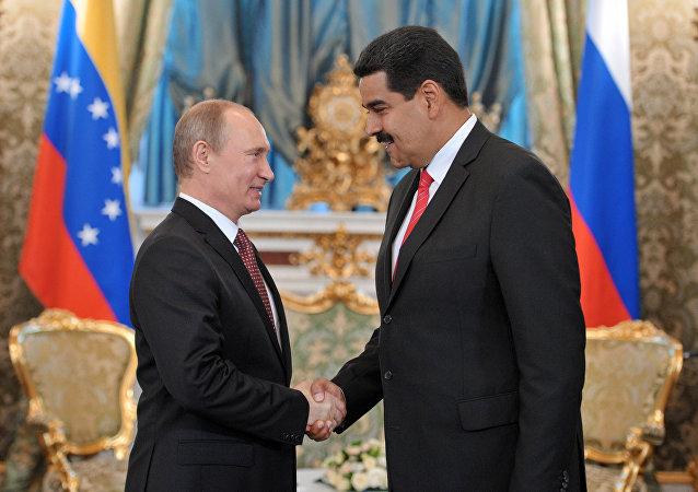 Presidente de Rusia, Vladímir Putin, y presidente de Venezuela, Nicolás Maduro (archivo)