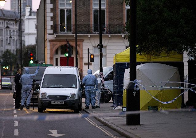 Lugar donde se produjo el ataque con cuchillo en Londres