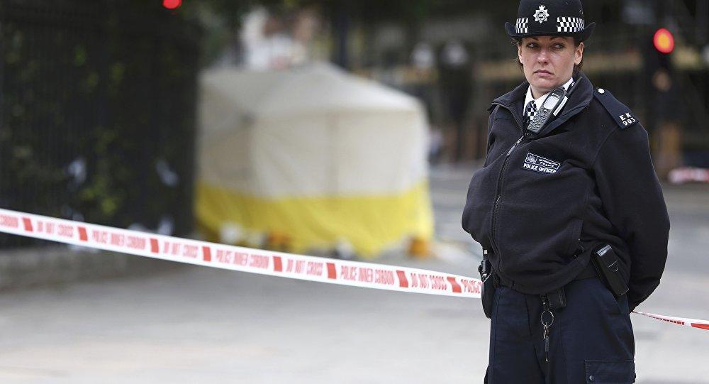 La policía de Londres tras un siniestro (archivo)