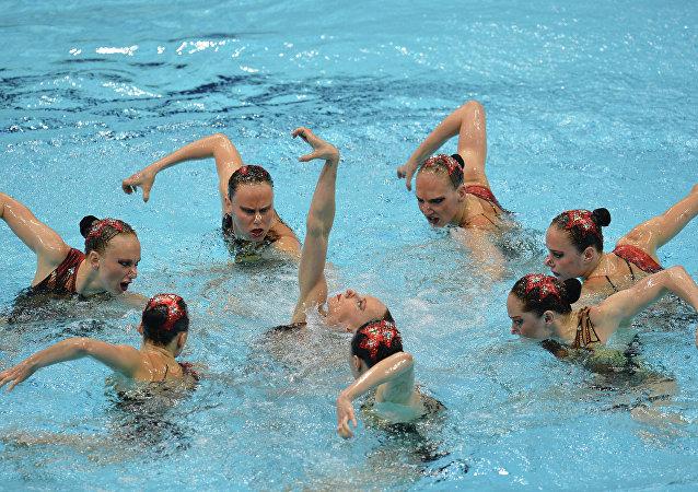 La selección rusa de natación sincronizada