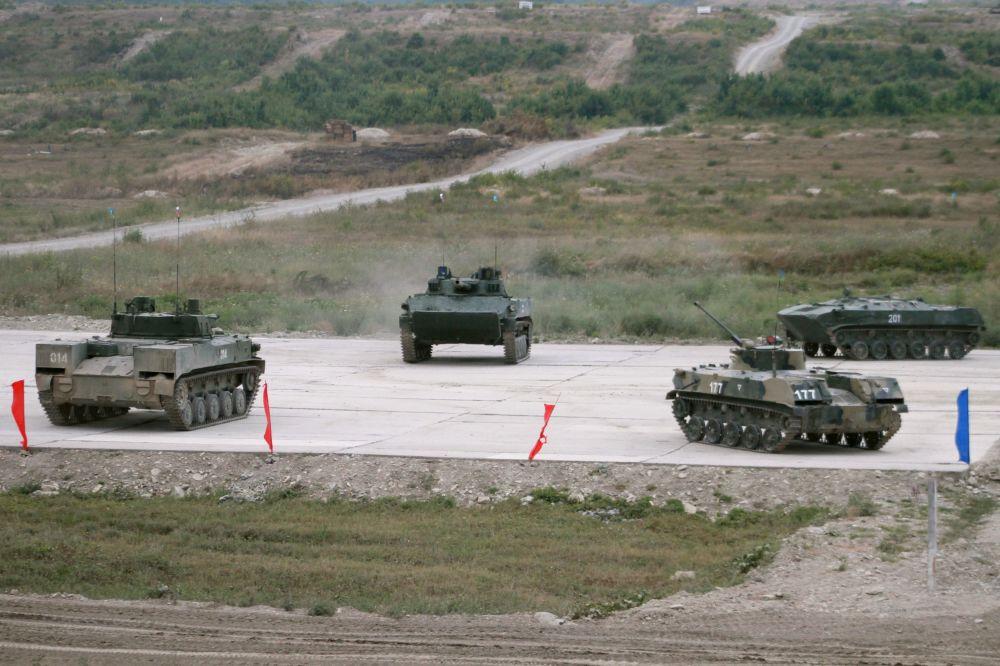 Tropas Aerotransportadas rusas participan en un concurso militar internacional