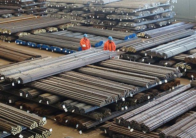 La producción de acero en China (archivo)