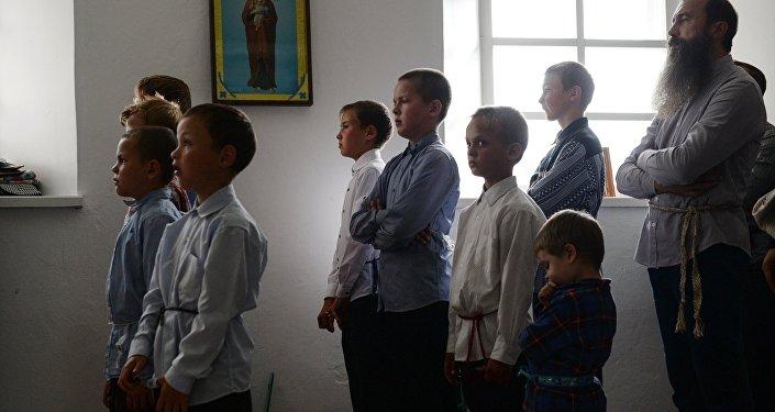 Niños de los viejos creyentes (archivo)