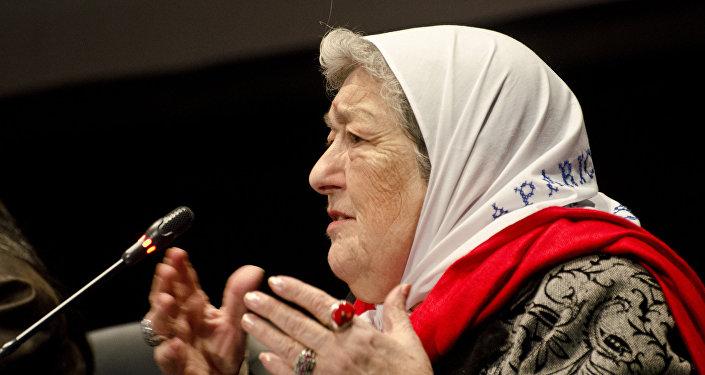 Hebe de Bonafini, presidenta de la organización argentina Madres de Plaza de Mayo