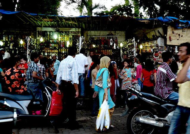 Un mercado indio