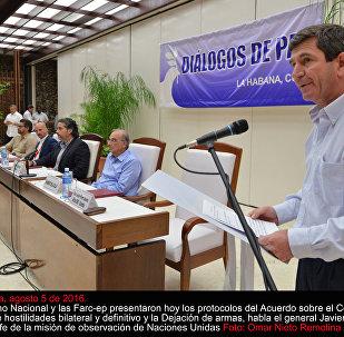 Las delegaciones de paz del Gobierno de Colombia y de las FARC