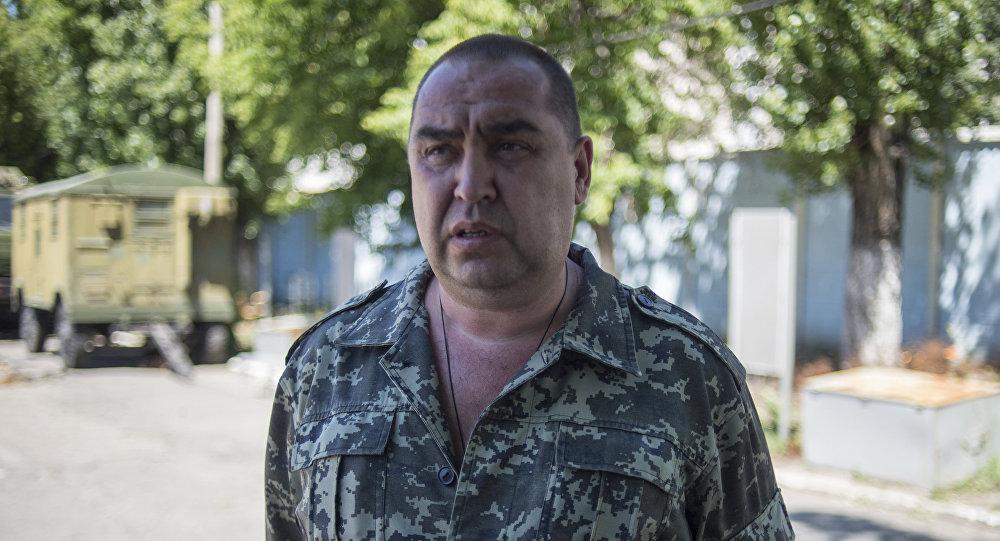 Jefe de las milicias locales, Ígor Plotnitski.