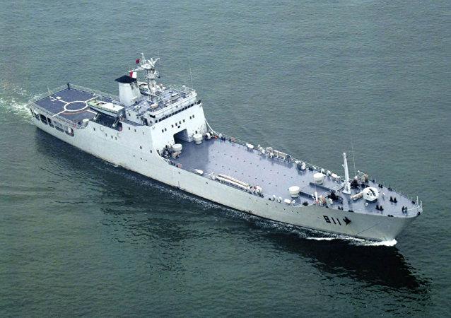 Un buque de desembarco