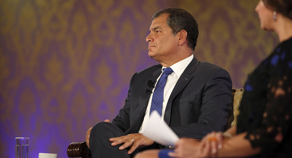 Rafael Correa, el expresidente de Ecuador