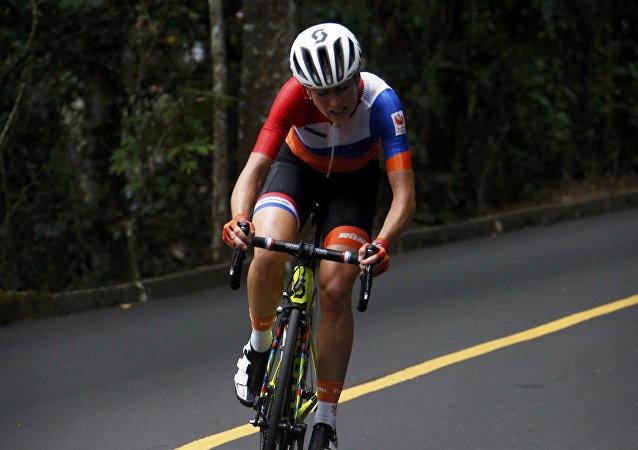 La ciclista holandesa Annemiek van Vleuten, durante los JJOO 2016