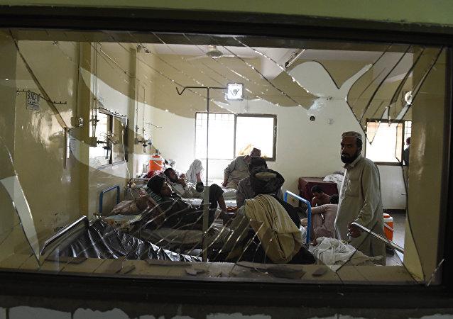 Víctimas del atentado en Quetta