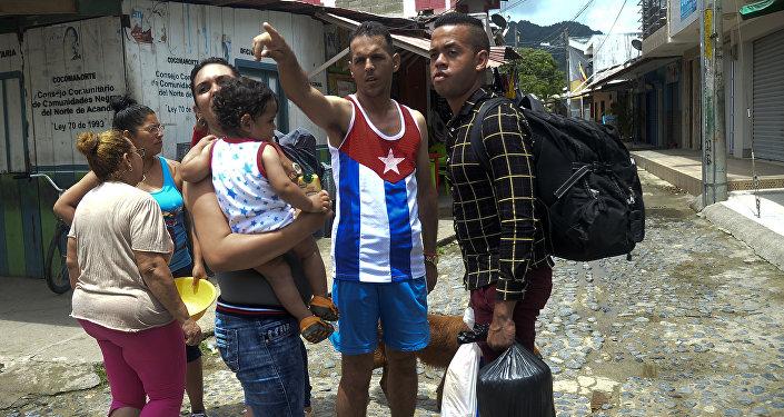 Migrantes cubanos (imagen referencial)