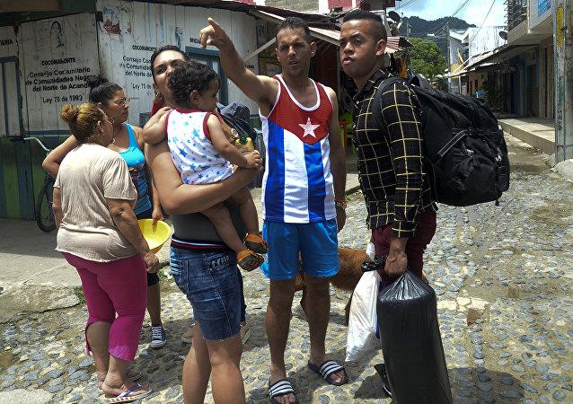 Migrantes cubanos en Colombia