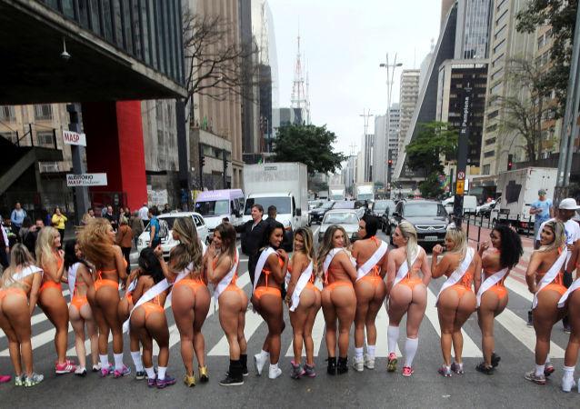 Participantes del certamen Miss Bumbum Brasil 2016