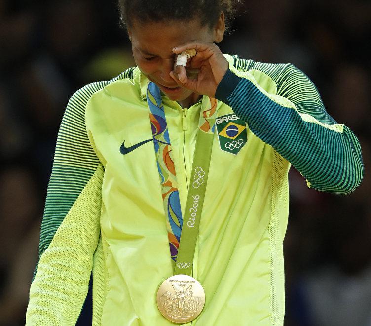 Rafaela Silva llora de emoción tras conquistar el oro olímpico en los JJOO de Río 2016
